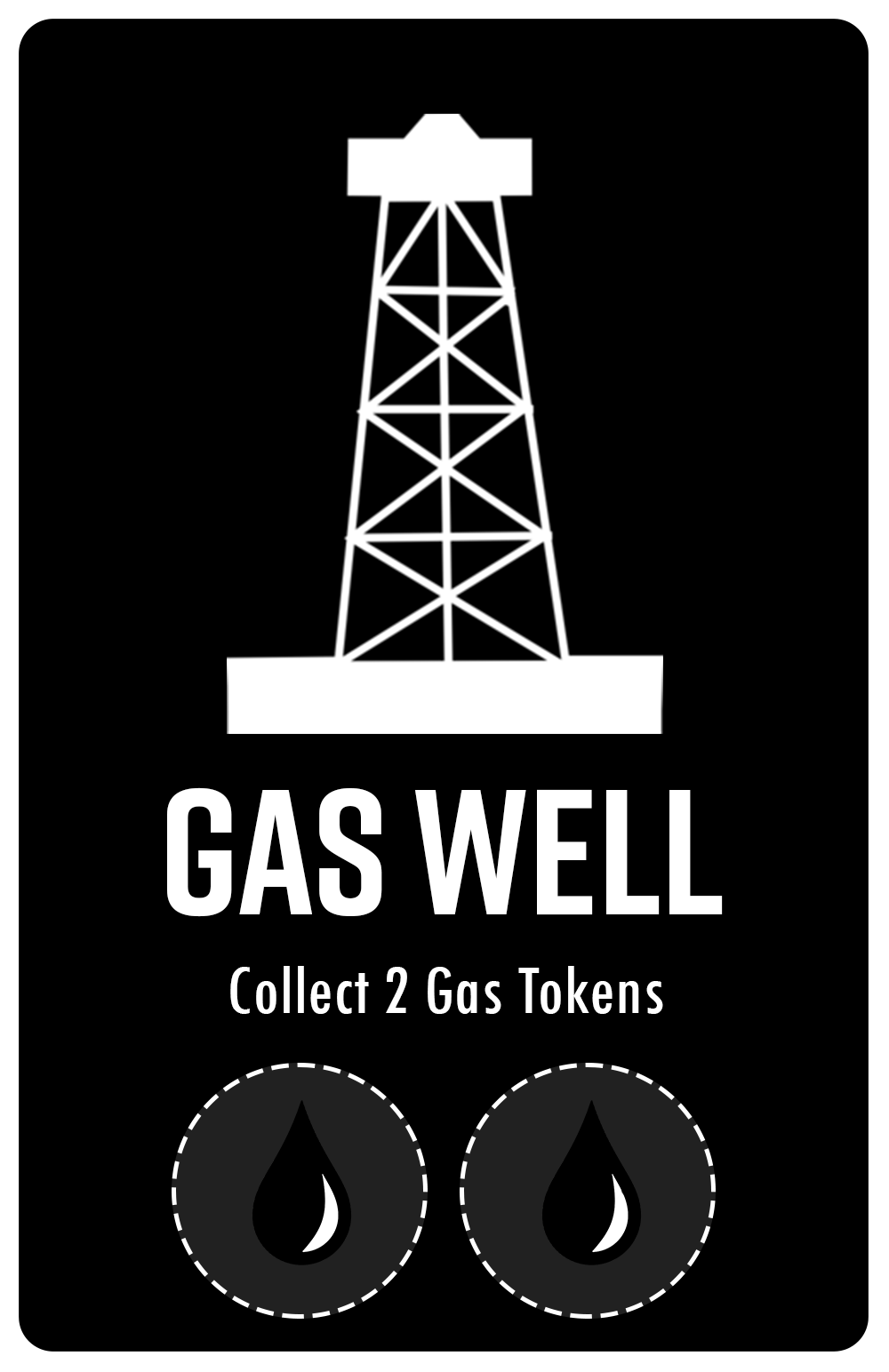 Indicates how many Gas Tokens the Player will receive